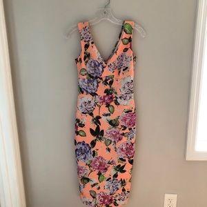 EUC ASOS Floral Orange Dress